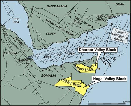 location of africa oil s blocks in puntland canadian oil .