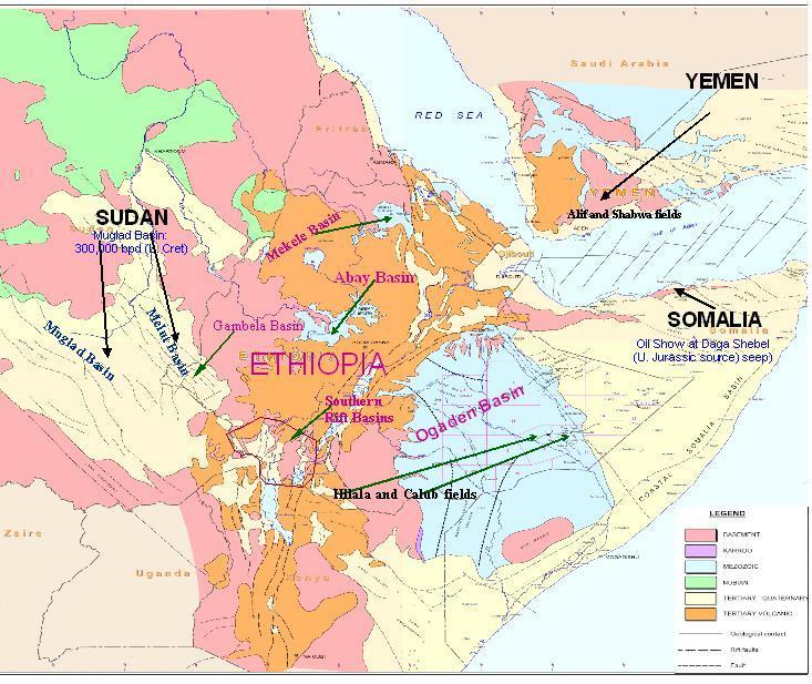 Petroleum, Oil, and Gas in Ethiopia