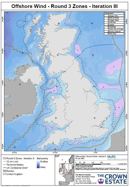 Uk Crown Estate Announces Round 3 Offshore Wind