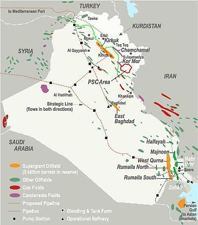 iraq signs majnoon oil field agreement with shell and petronas