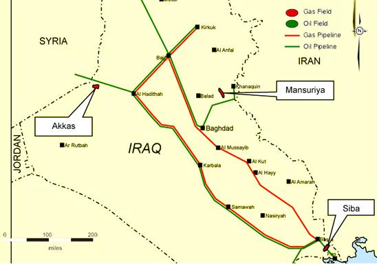 MUSINGS ON IRAQ Iraqs Parliament May Cancel Akkas Natural Gas Deal – Map of Iraqi Oil Fields