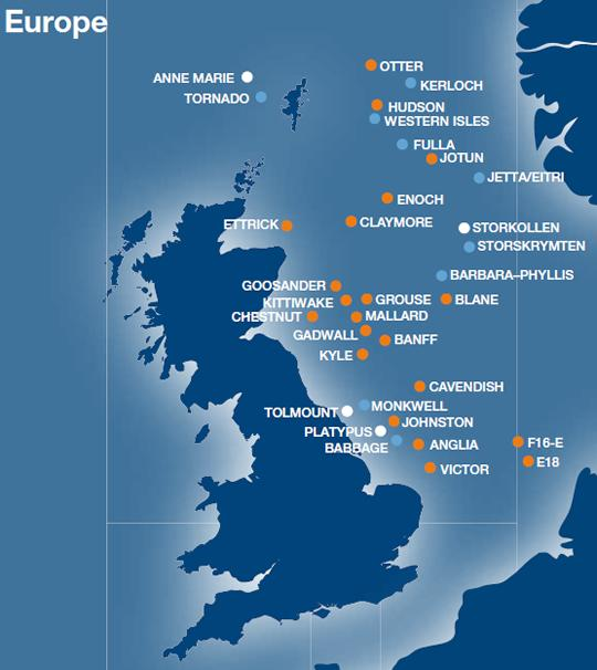 Map Of Uk Oil Fields.Dana Petroleum Provides Exploration And Drilling Programme Update