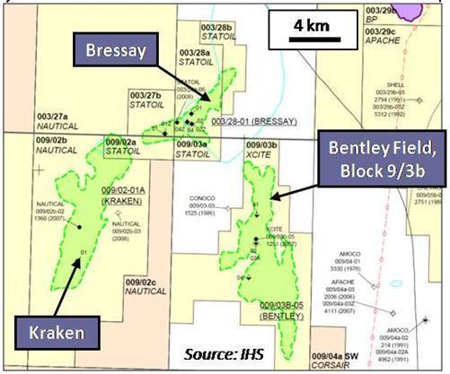 bressay heavy oil field