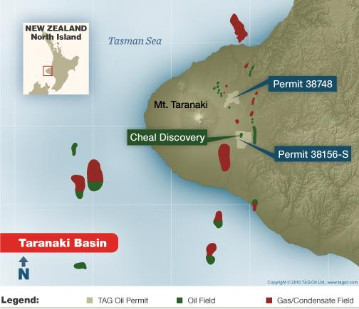 New Zealand: TAG Oil Begins Cheal Field Drilling