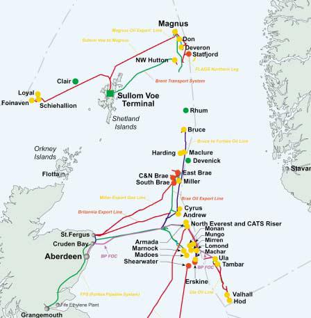Map Of Uk Oil Fields.Bp And Partners Investing 10 Billion In Uk Oil And Gas Projects