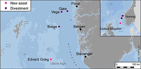 Oljefelt i nordsjøen kart