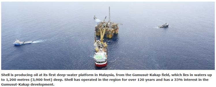Malaysia Shell Starts Oil Production From Gumusut Kakap