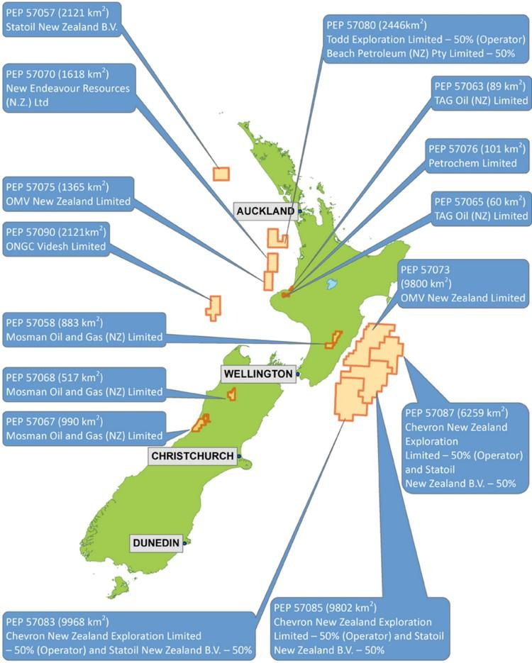 New Zealand Announces 15 New Oil And Gas Exploration Permits