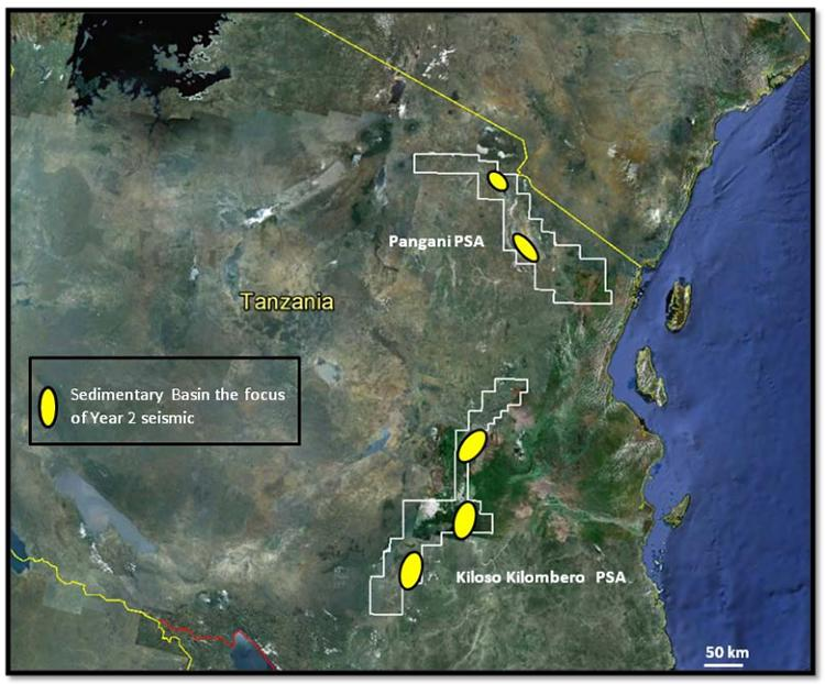 magnetic surveys of the ocean basins indicate that tanzania otto energy enters second year of tanzanian psas 5373